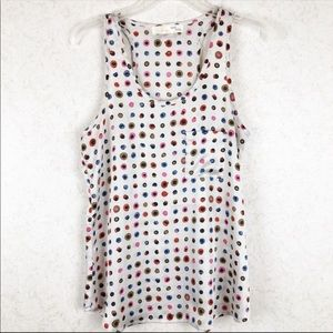 Anthropologie Tini Lili polka dot tank top
